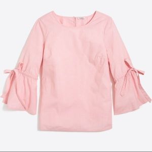 NWT J Crew Bow Sleeve Blouse